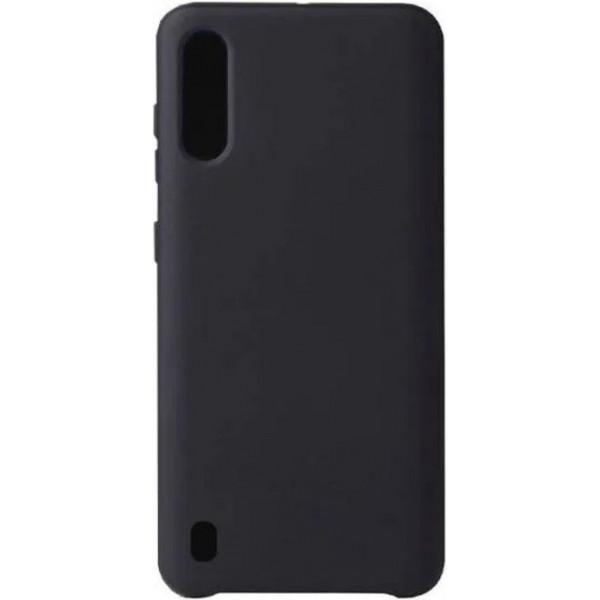 Силиконовый чехол для Samsung A01 Черный