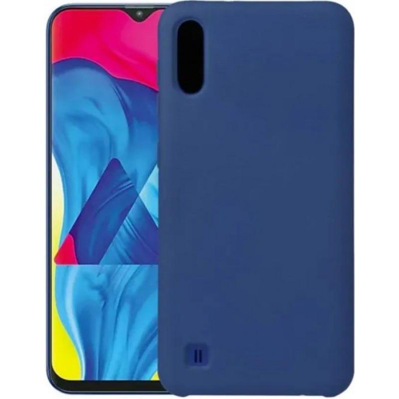Силиконовый чехол для Samsung A01 Синий