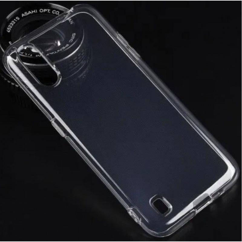 Силиконовый чехол для Samsung A01 Прозрачный