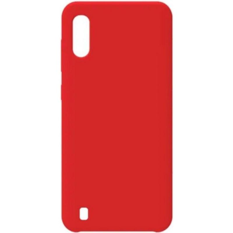 Силиконовый чехол для Samsung A01 Красный