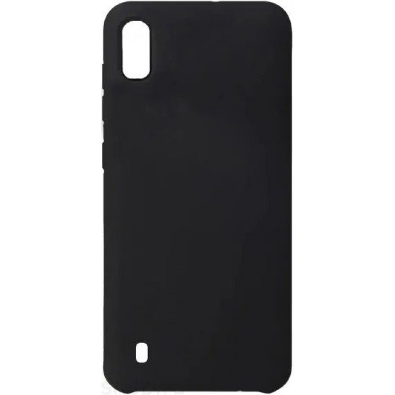 Силиконовый чехол для Samsung A10 Черный
