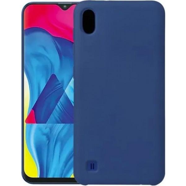 Силиконовый чехол для Samsung A10 Синий