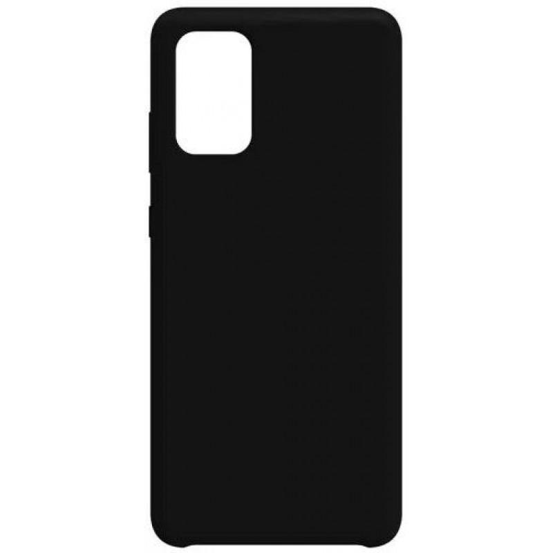 Силиконовый чехол для Samsung A51 Черный