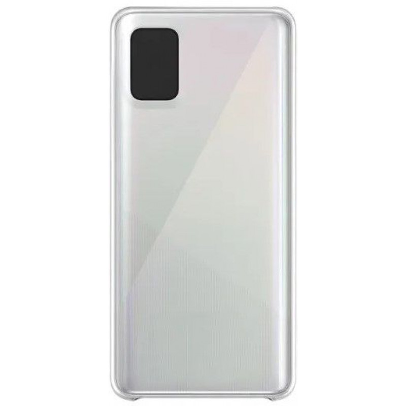 Силиконовый чехол для Samsung A51 Прозрачный