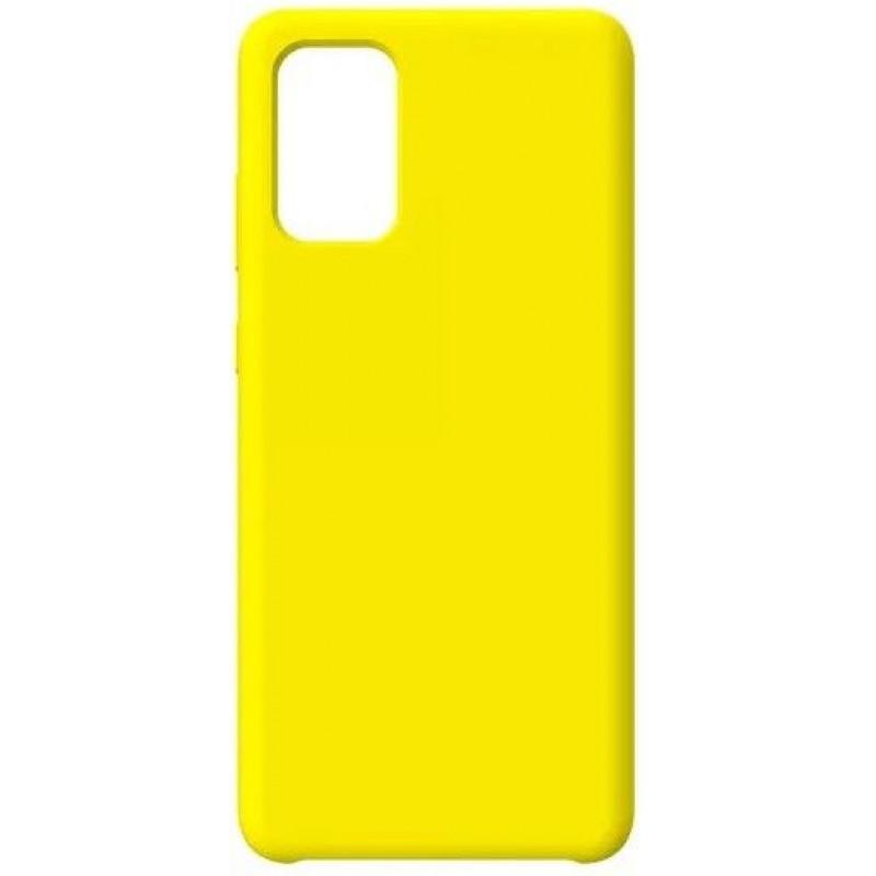Силиконовый чехол для Samsung A51 Желтый