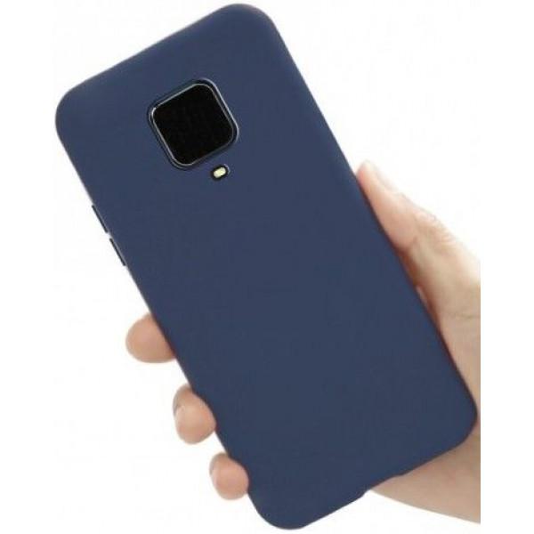 Силиконовый чехол для Xiaomi Redmi Note 9 Pro Синий