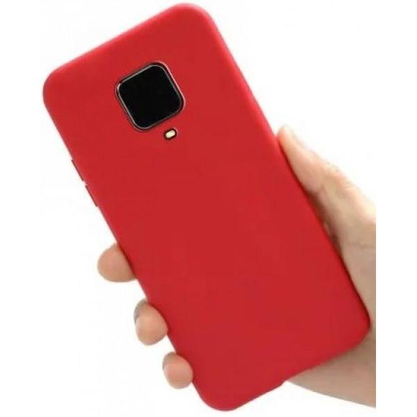 Силиконовый чехол для Xiaomi Redmi Note 9 Pro Красный
