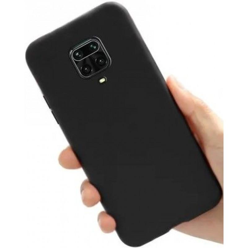 Силиконовый чехол для Xiaomi Redmi Note 9s Черный