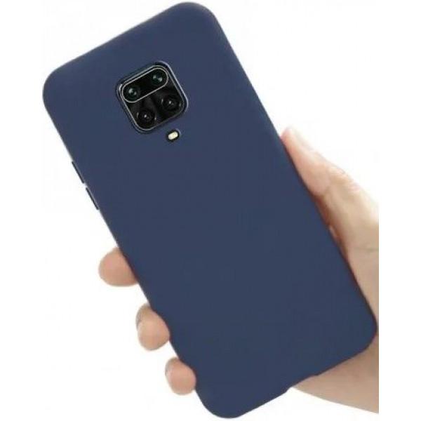 Силиконовый чехол для Xiaomi Redmi Note 9s Синий
