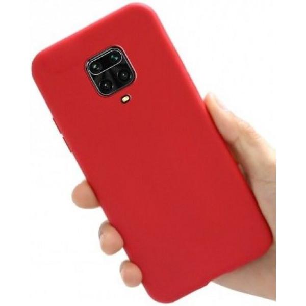 Силиконовый чехол для Xiaomi Redmi Note 9s Красный