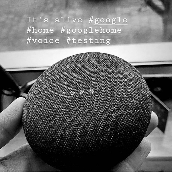 Домашний помощник Google Home Mini Charcoal