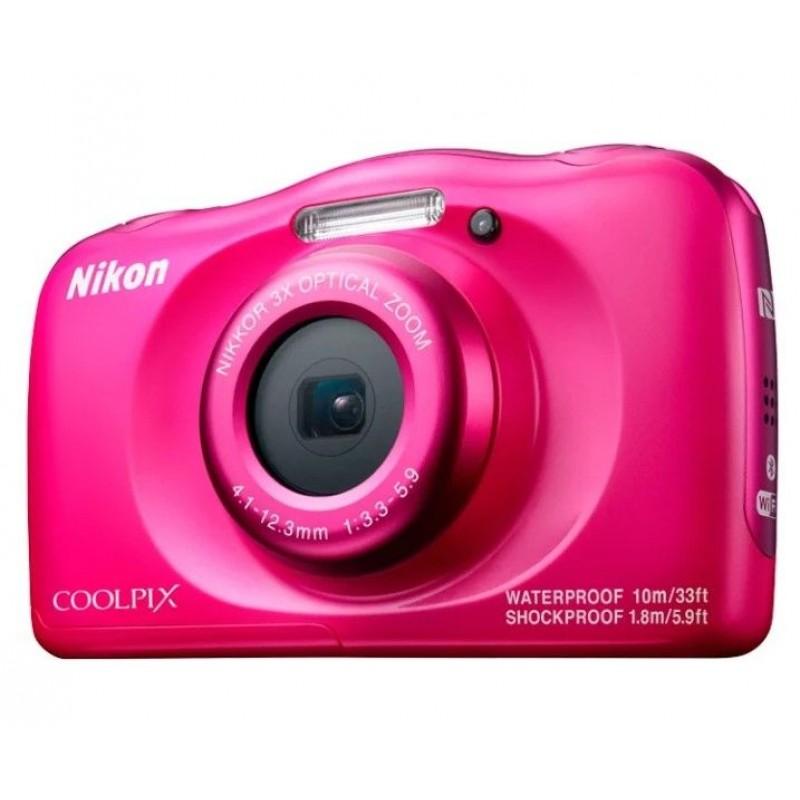 Компактный фотоаппарат Nikon Coolpix W100 Розовый