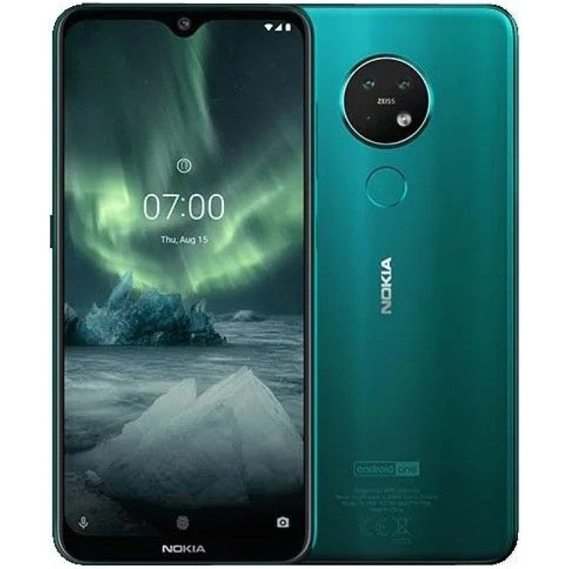 Смартфон Nokia 7.2 128GB Cyan Green/Изумрудный