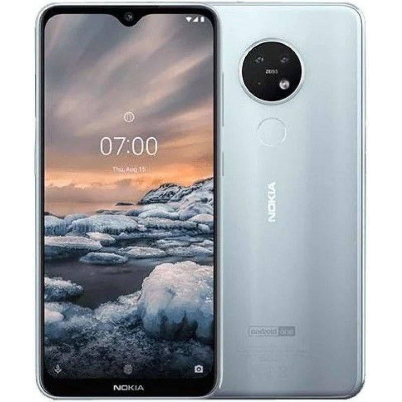 Смартфон Nokia 7.2 64GB Iсe Silver/Серебристый