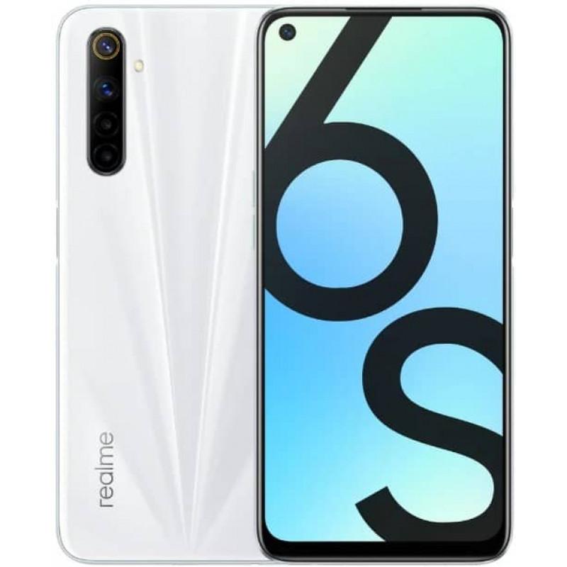 Смартфон realme 6S 6/128GB Lunar White/Белый
