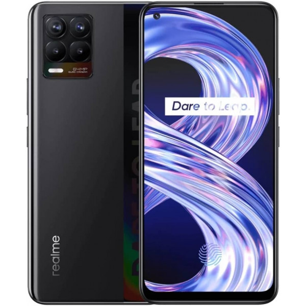 Смартфон realme 8 4/64GB Cyber Black/Черный