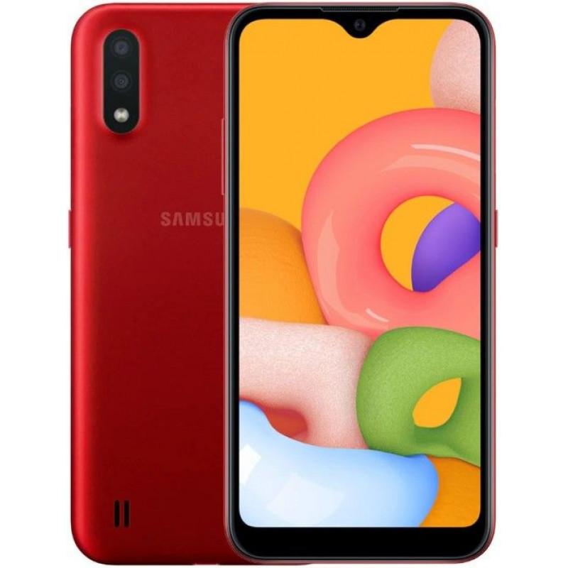 Смартфон Samsung Galaxy A01 2/16Gb (SM-A015F) Красный