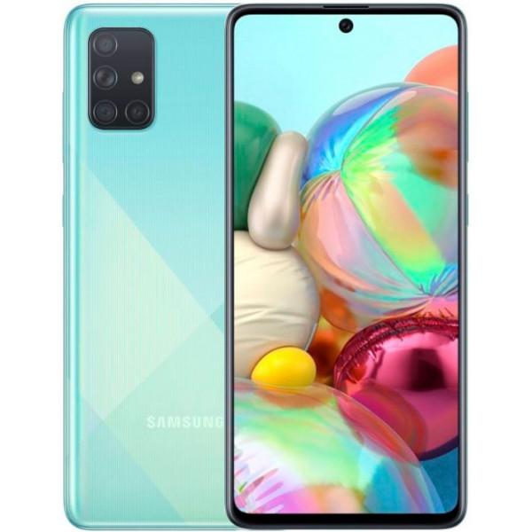 Смартфон Samsung Galaxy A71 6/128Gb Blue/Голубой EAC