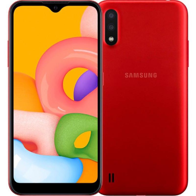 Смартфон Samsung Galaxy M01 Red/Красный