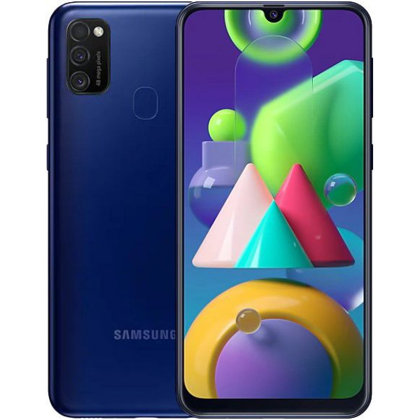 Смартфон Samsung Galaxy M21 4/64Gb Blue/Синий