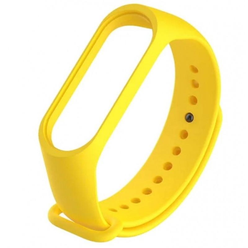 Силиконовый ремешок для Xiaomi Mi Band 4 Желтый