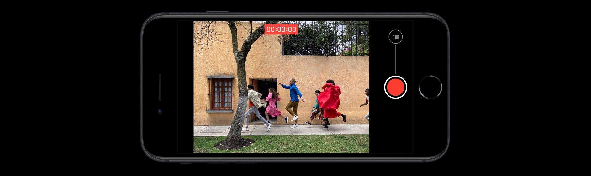 iPhone SE 2020 съемка видео