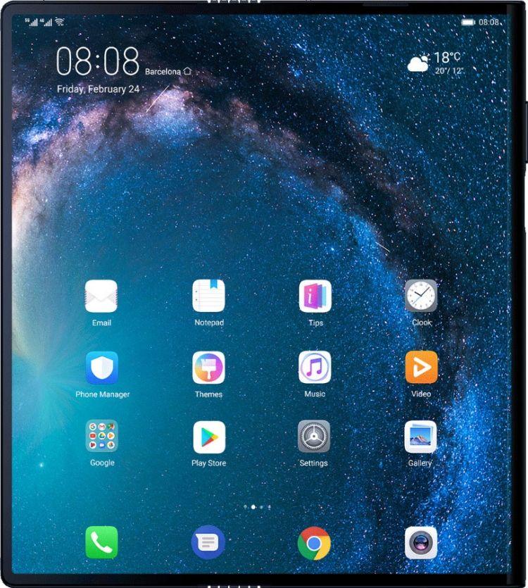 Huawei Mate X фото как планшет