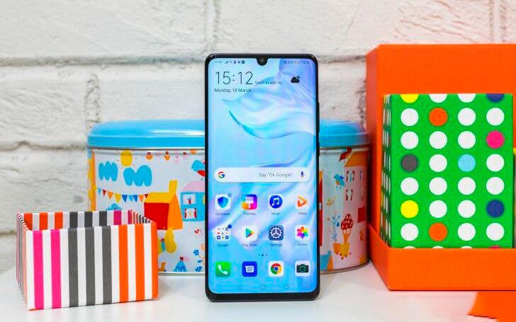 Huawei P30 Pro Blue / Светло-голубой экран