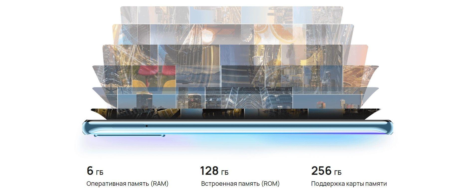 Huawei Y8p 4 гигабайт оперативной памяти