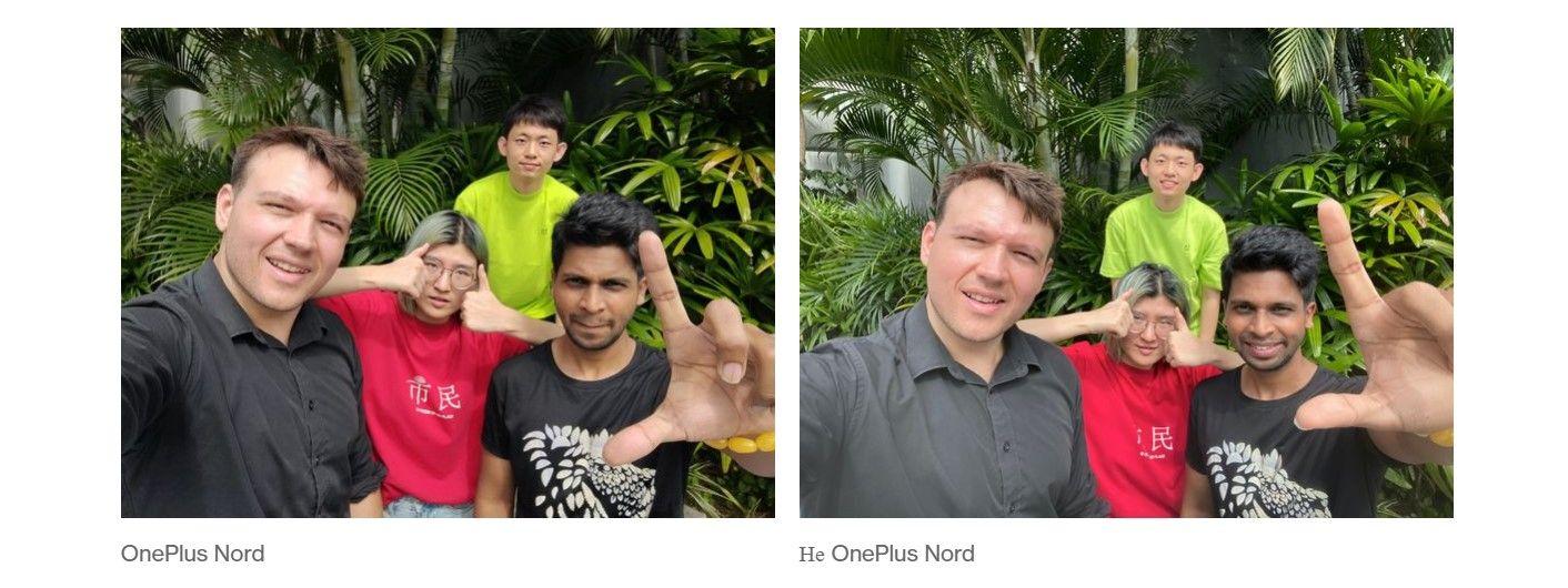 Oneplus Nord пример селфи