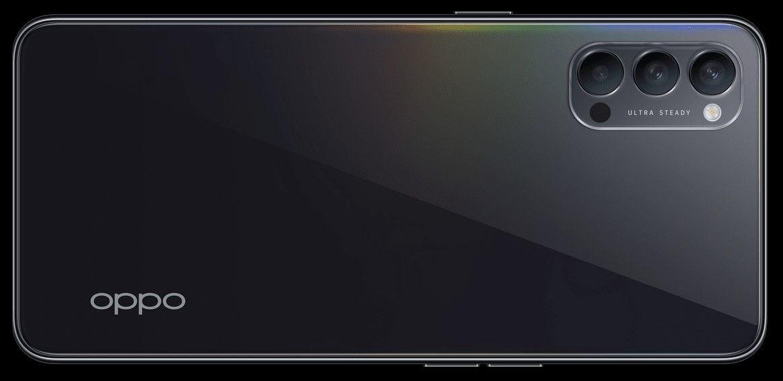 Oppo Reno4 Зеркальный Черный