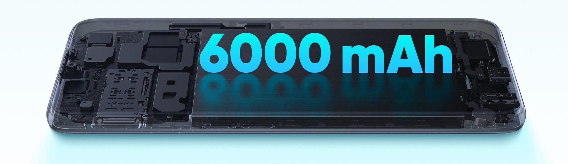 Смартфон Realme C15 автономность 6000 мАч