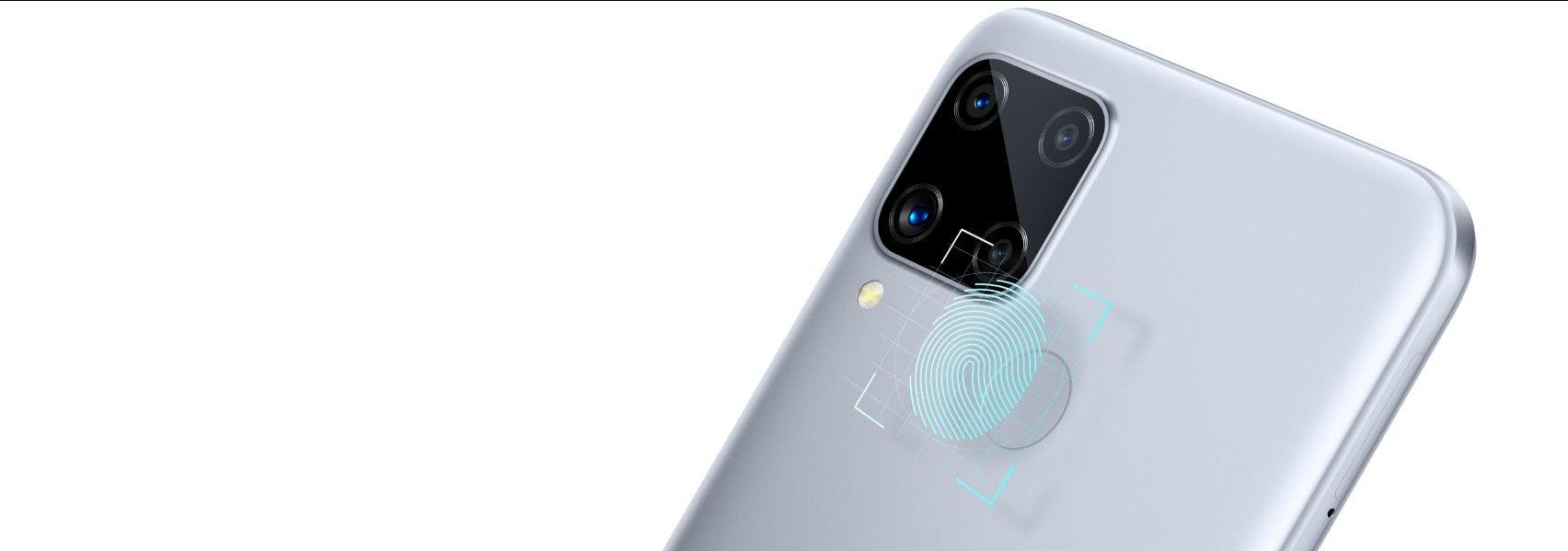 Смартфон Realme C15 сканер отпечатка пальца