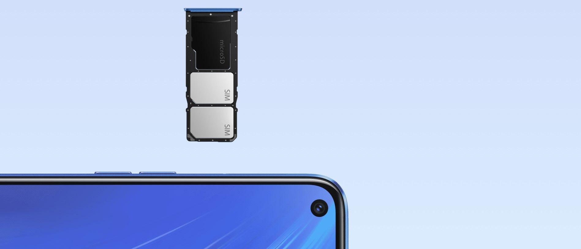 Realme 6 слот для карты памяти
