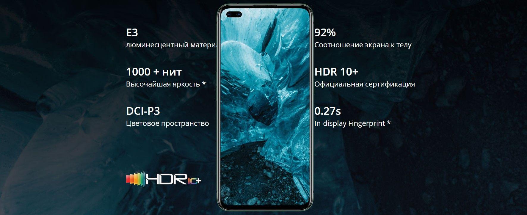 Realme X50 Pro характеристики экрана