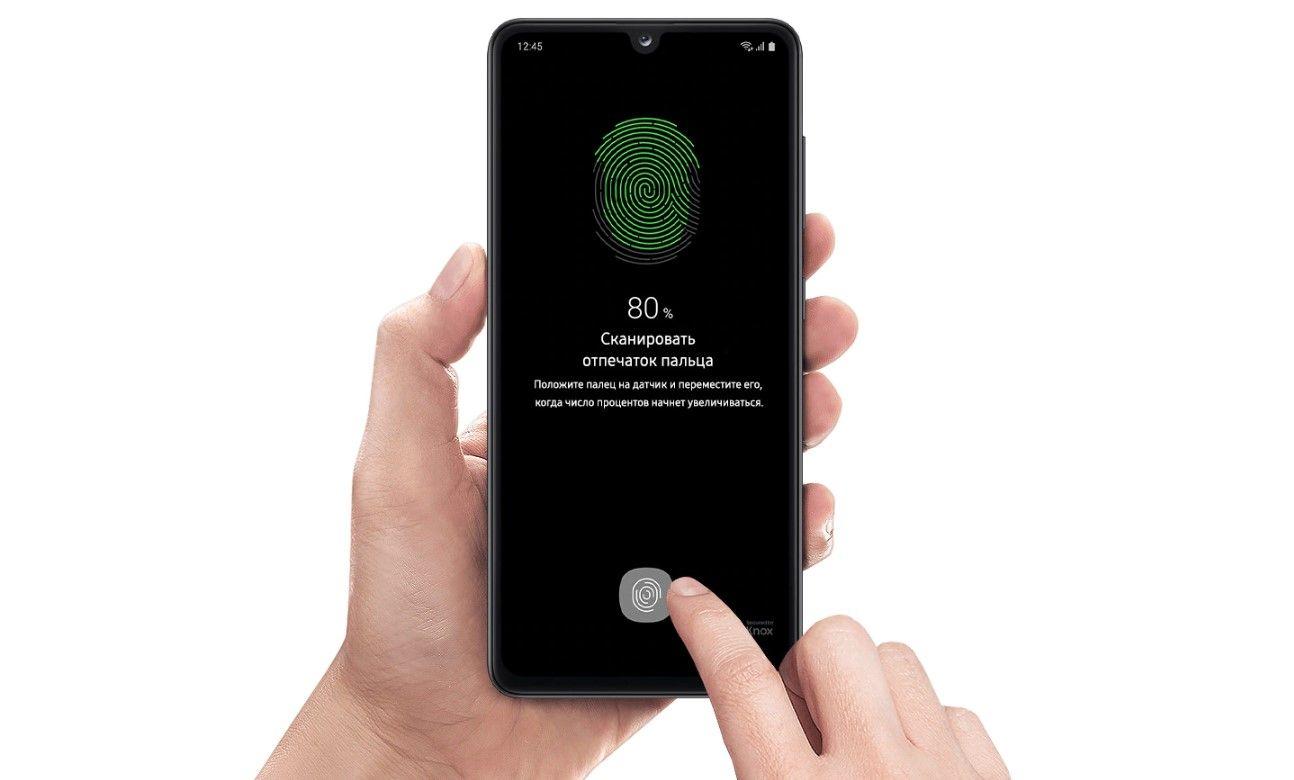 Samsung Galaxy A41 сканер отпечатка пальца