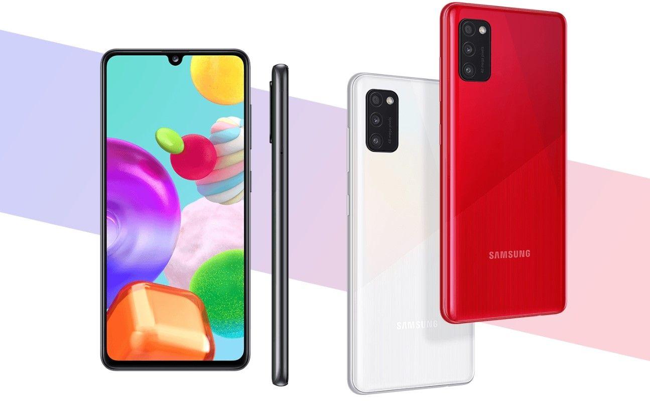 Samsung Galaxy A41 дизайн и цвета
