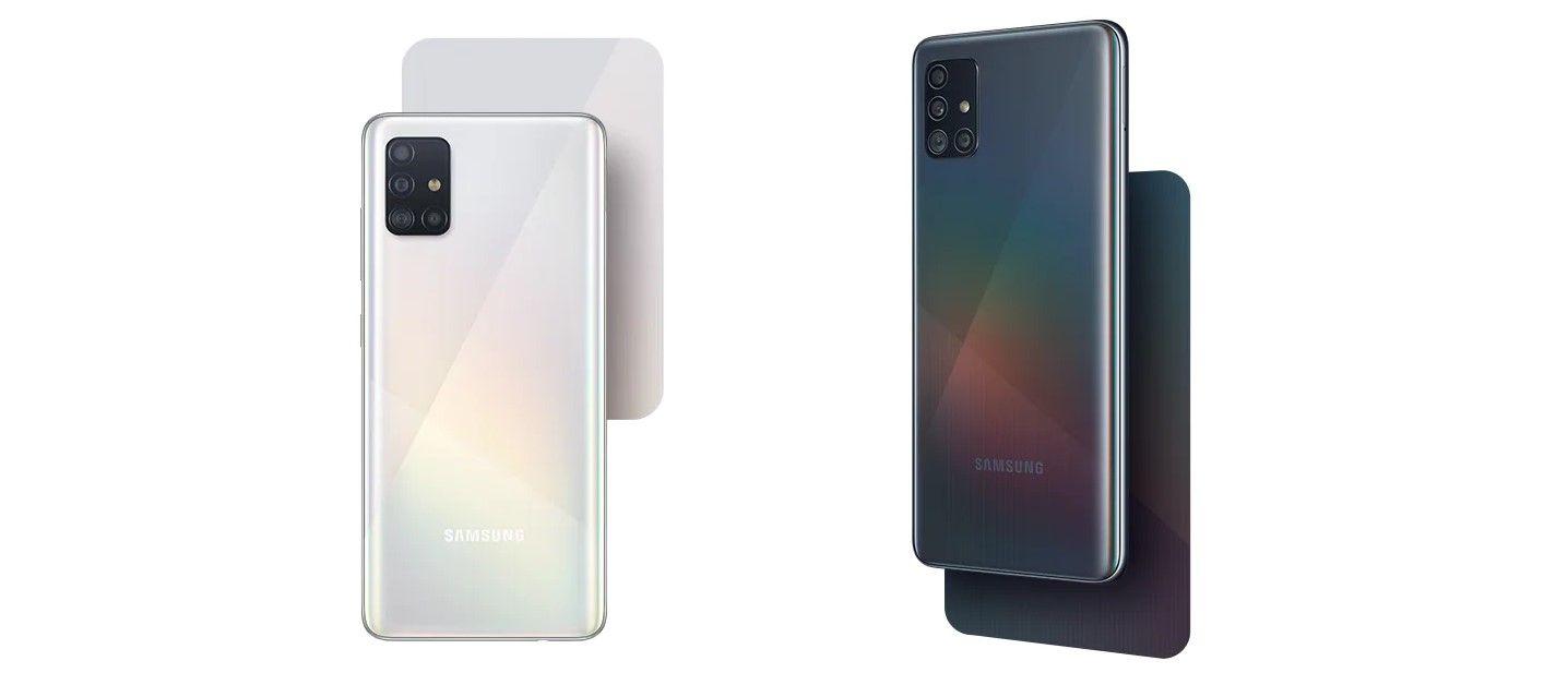 Samsung Galaxy A51 черный и белый цвет