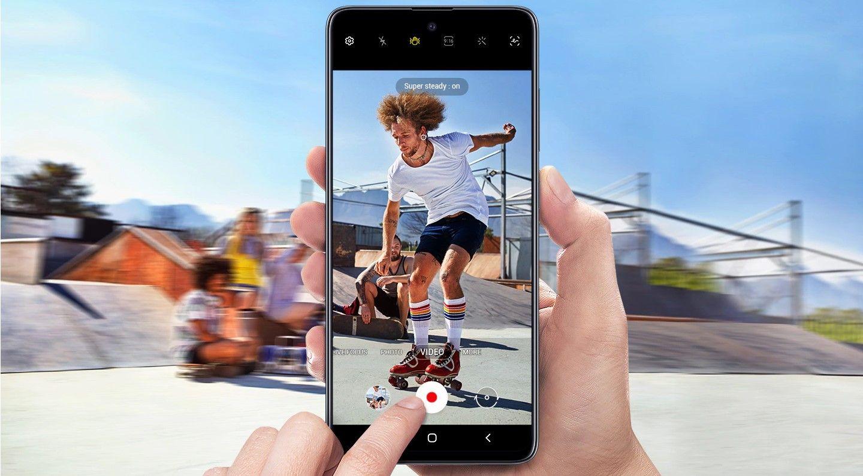 Samsung Galaxy A51 экшн съемка