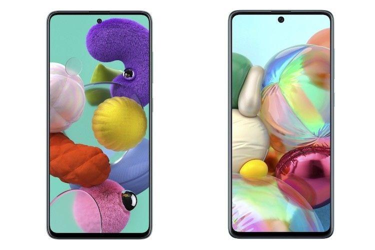 Samsung Galaxy A71 дисплей смартфона