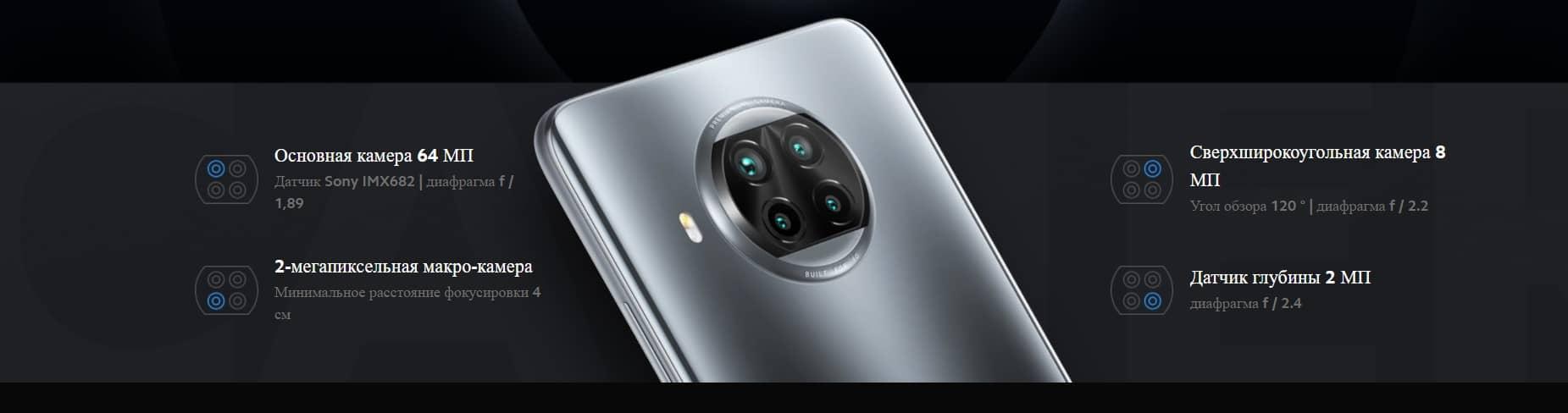 Xiaomi Mi 10T Lite  основные камеры