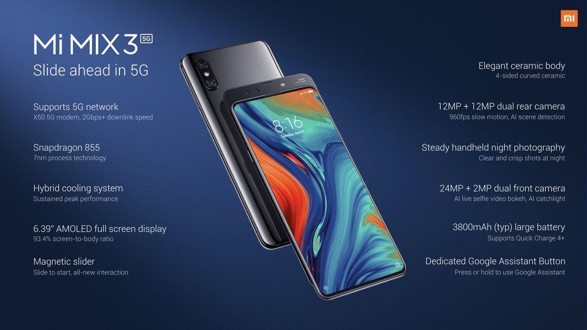 смартфон Xiaomi Mi Mix 3 5G характеристики