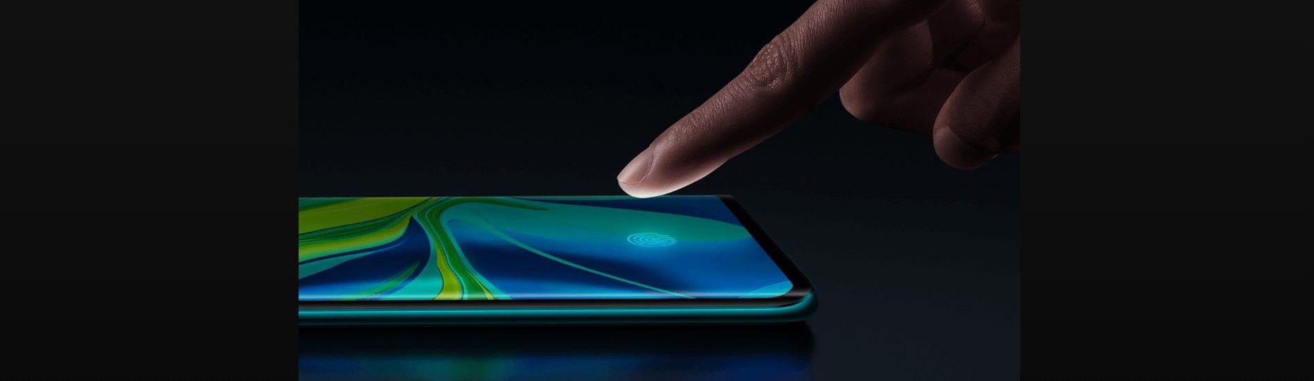 Xiaomi Mi Note 10 сканер отпечатка пальца на дисплее