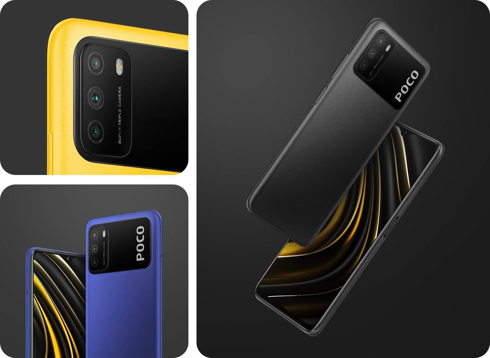 Xiaomi POCO M3 дизайн и цвета