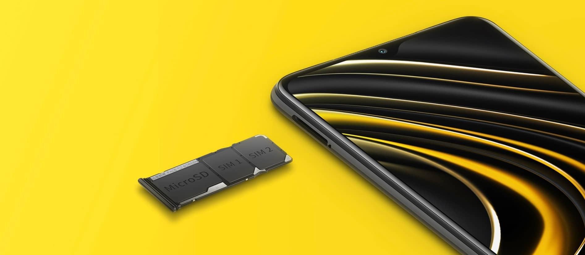 Xiaomi POCO M3 лоток для 2 сим-карт и карты памяти