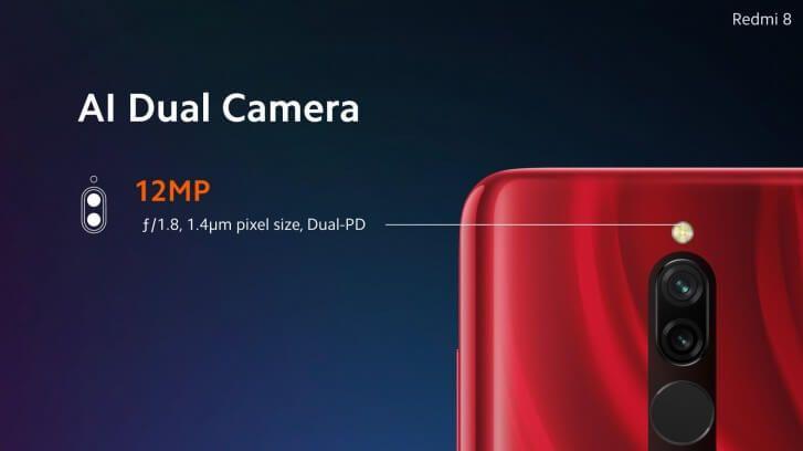 Двойная камера смартфона Redmi 8