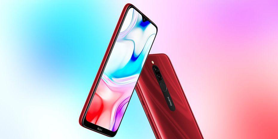 Яркий дисплей смартфона Redmi 8