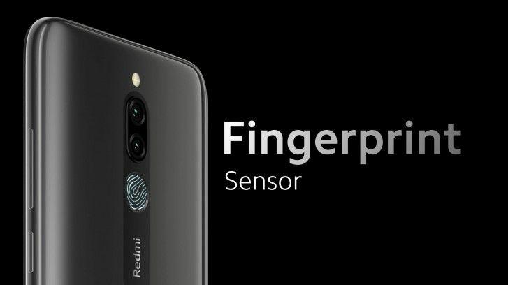 У смартфона Redmi 8 есть отпечаток пальца