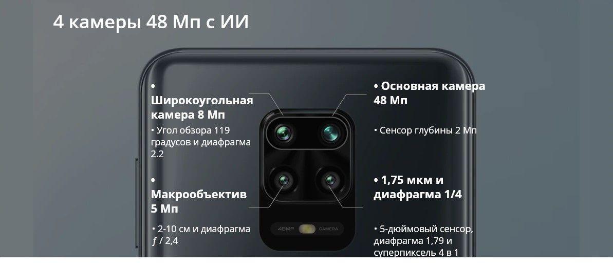 Xiaomi Redmi Note 9S основные камеры